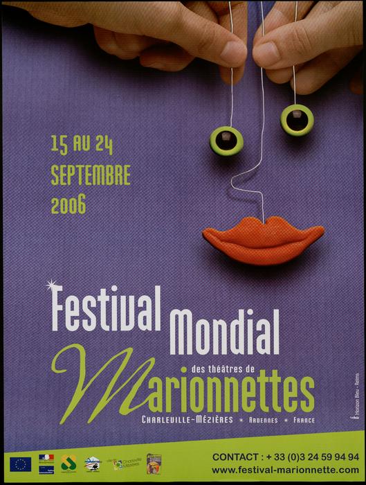 Affiche du Festival Mondial des Théâtres de Marionnettes