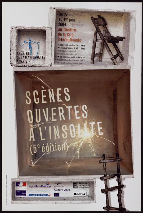 5e édition des Scènes ouvertes à l'insolite (2004), par le Théâtre de la Marionnette à Paris, affiche