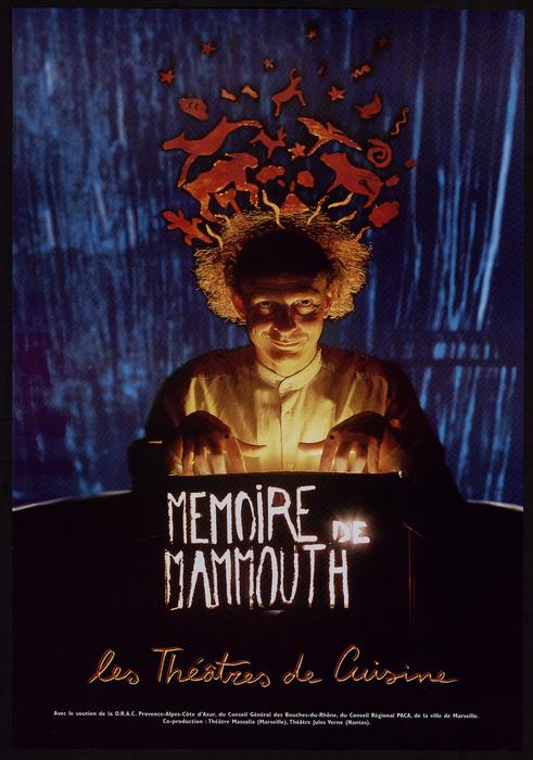 Mémoire de mammouth, par le Théâtre de Cuisine, affiche du spectacle