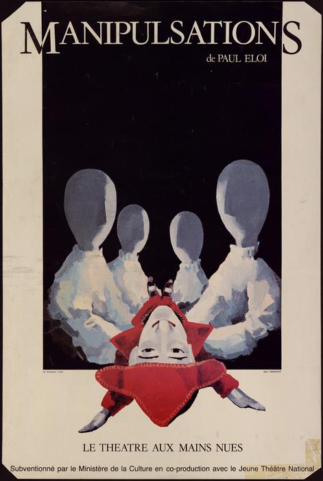Manipulsations, par le Théâtre aux Mains Nues, affiche du spectacle