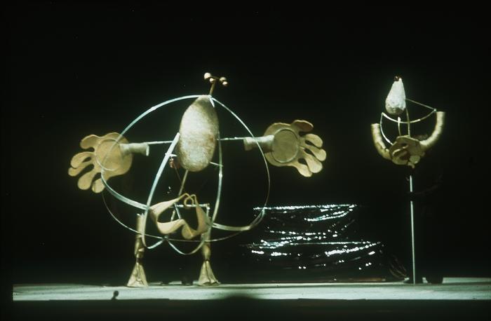 Un jour mémorable pour le savant Monsieur Wu, par la compagnie Dominique Houdart-Heuclin, maquette préparatoire de marionnettes.