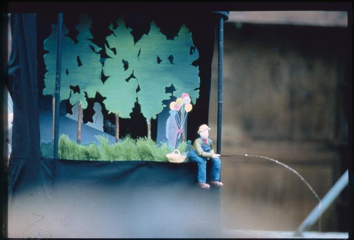 Le Pêcheur, par la compagnie Vélo Théâtre, photo de spectacle.